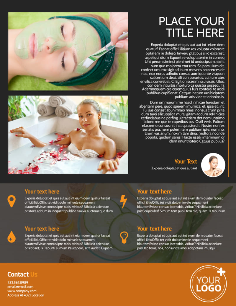 Creative Beauty Spa Flyer Template Preview 3