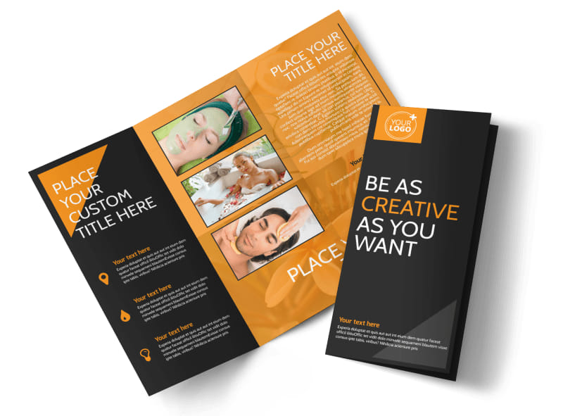 Creative Beauty Spa Tri-Fold Brochure Template