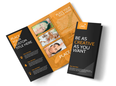 Creative Beauty Spa Tri-Fold Brochure Template preview