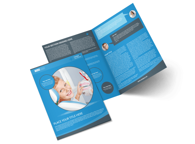 Dental Care Clinic Brochure Template Preview 1