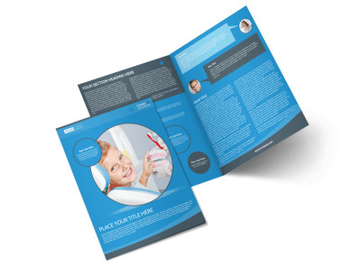 Dental Care Clinic Bi-Fold Brochure Template 2