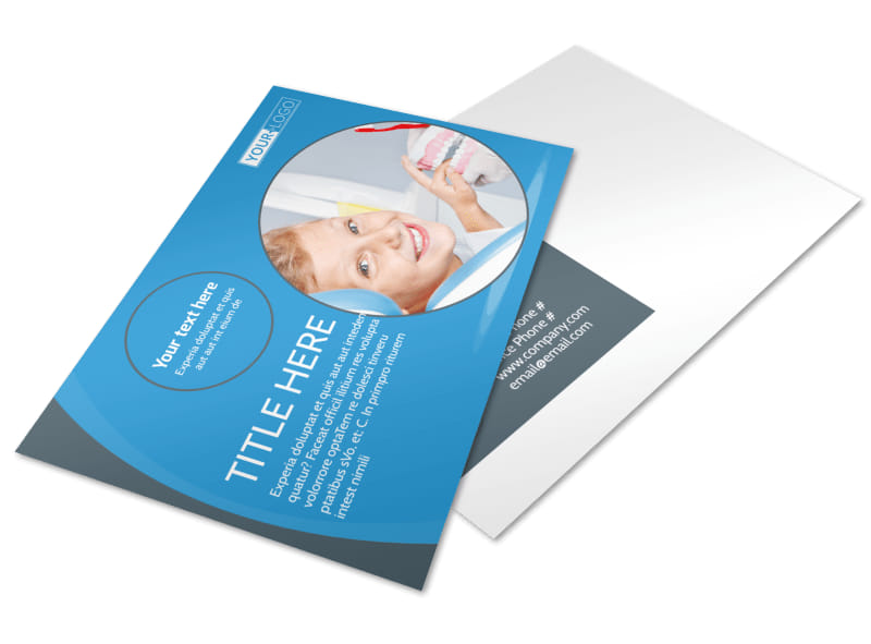 Dental Care Clinic Postcard Template 2