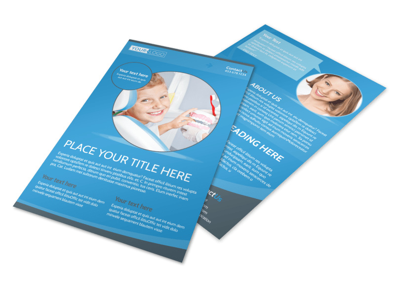 Dental Care Clinic Flyer Template 3