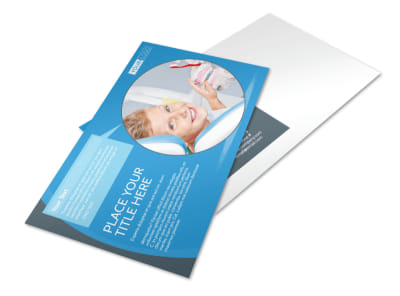 Dental Care Clinic Postcard Template preview