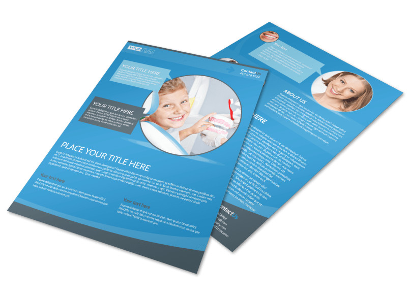 Dental Care Clinic Flyer Template