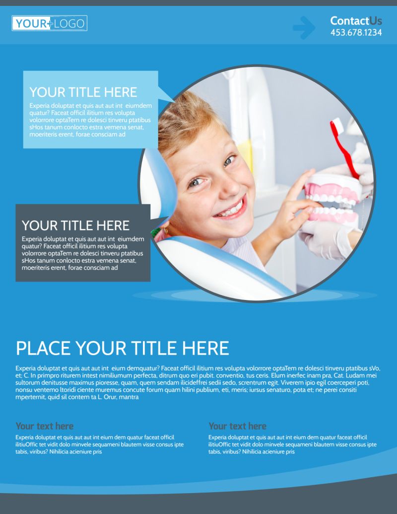 Dental Care Clinic Flyer Template Preview 2