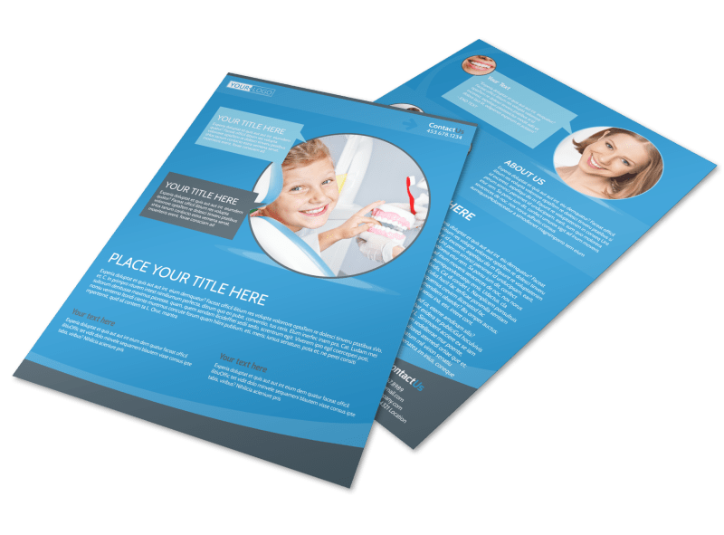 Dental Care Clinic Flyer Template Preview 1