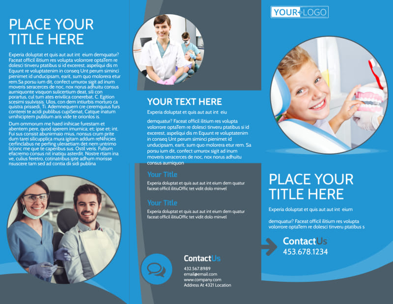 Dental Care Clinic Brochure Template Preview 2