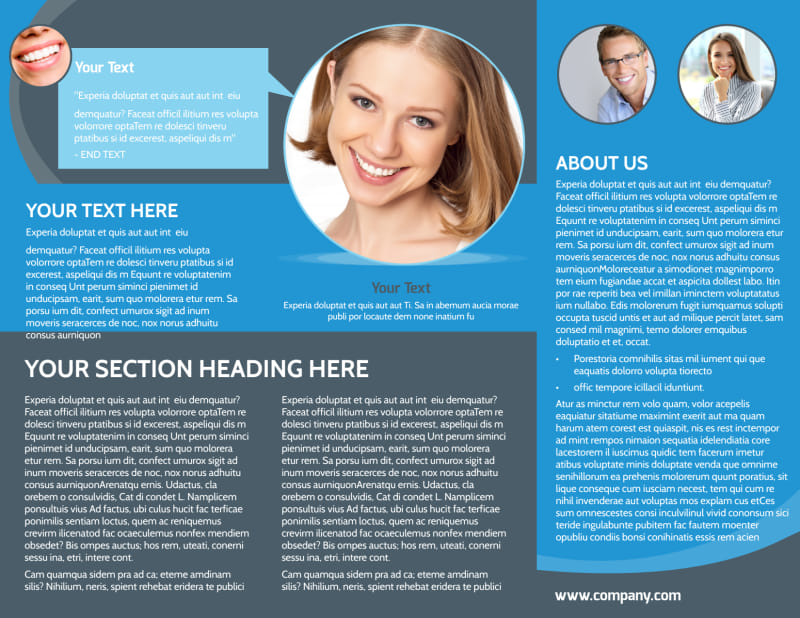 Dental Care Clinic Brochure Template Preview 3
