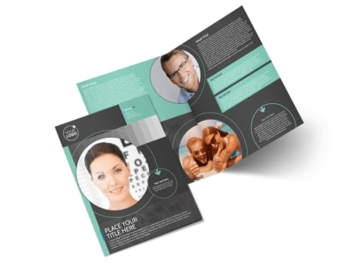 Clear Vision Care Bi-Fold Brochure Template 2