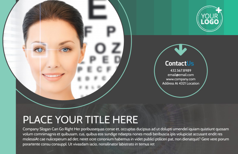 Clear Vision Care Postcard Template Preview 2
