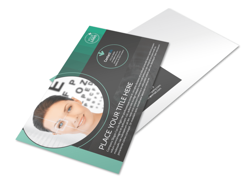 Clear Vision Care Postcard Template Preview 1