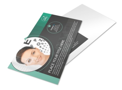 Clear Vision Care Postcard Template preview