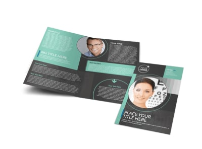 Clear Vision Care Bi-Fold Brochure Template