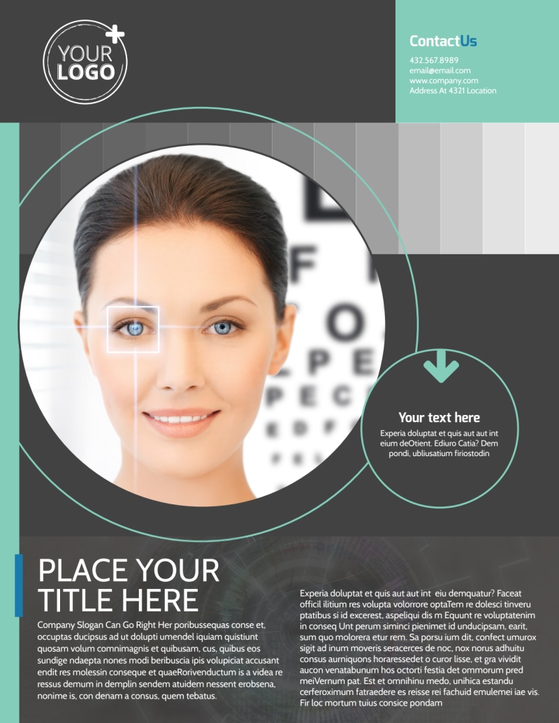 Clear Vision Care Flyer Template Preview 2