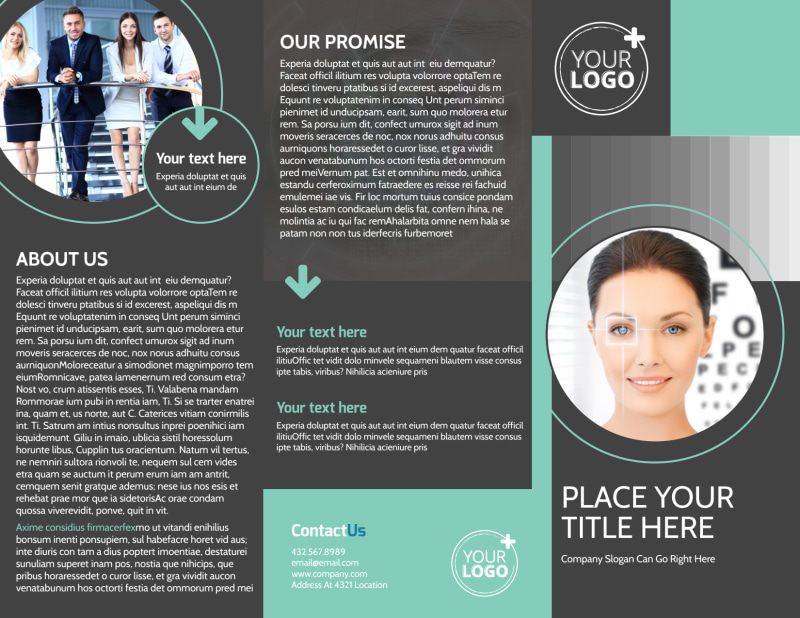 Clear Vision Care Brochure Template Preview 2