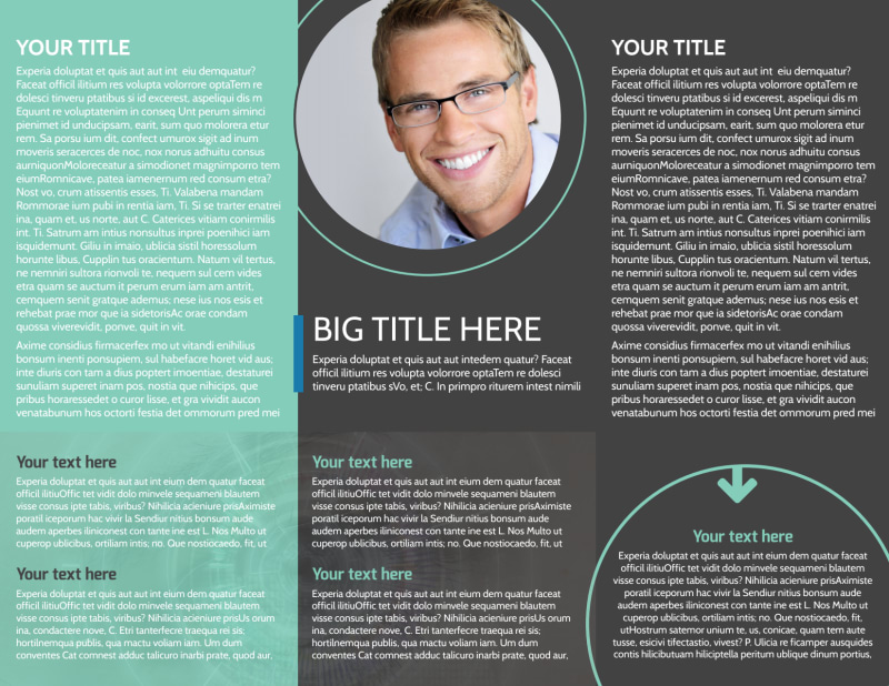 Clear Vision Care Brochure Template Preview 3