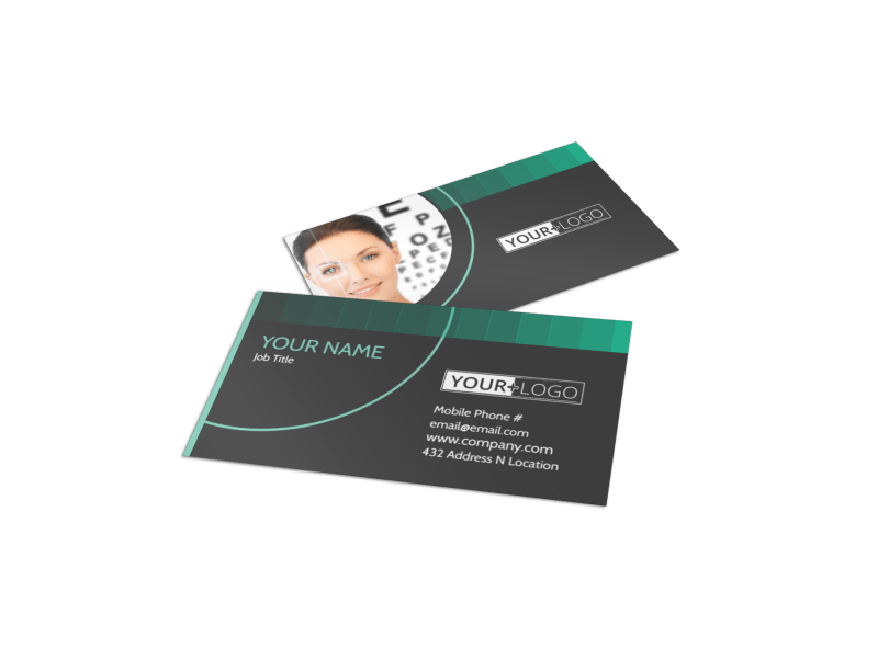 Clear Vision Care Business Card Template Preview 1