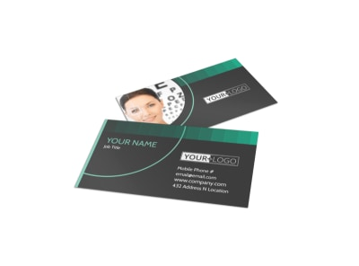 Clear Vision Care Business Card Template preview
