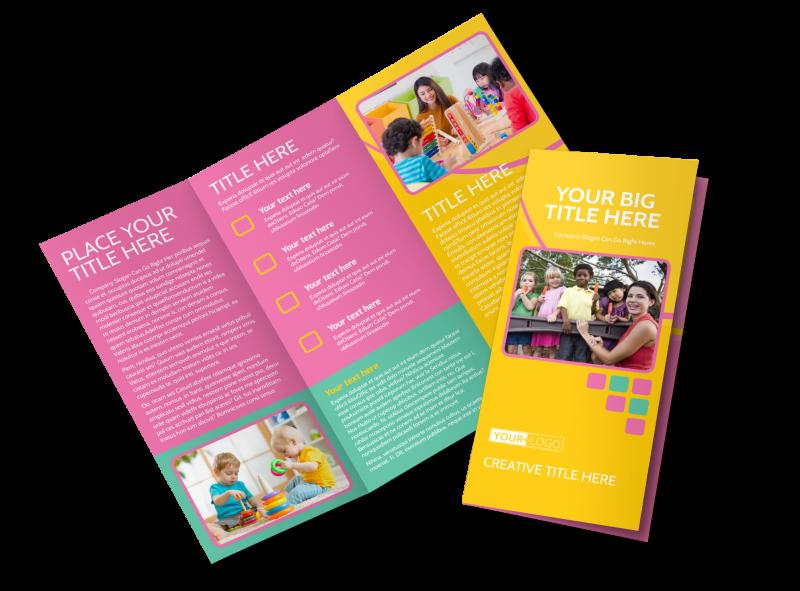 Fun Daycare Service Brochure Template Preview 1