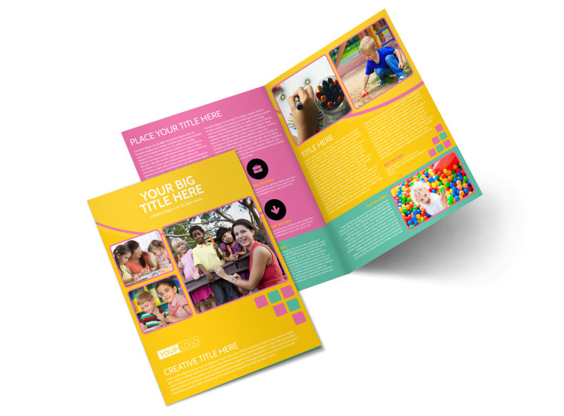 Fun Daycare Service Bi-Fold Brochure Template 2