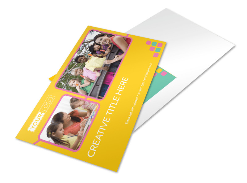 Fun Daycare Service Postcard Template 2