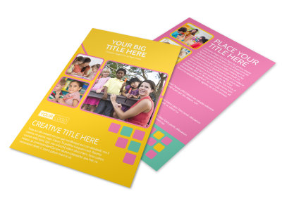 Fun Daycare Service Flyer Template 3 preview