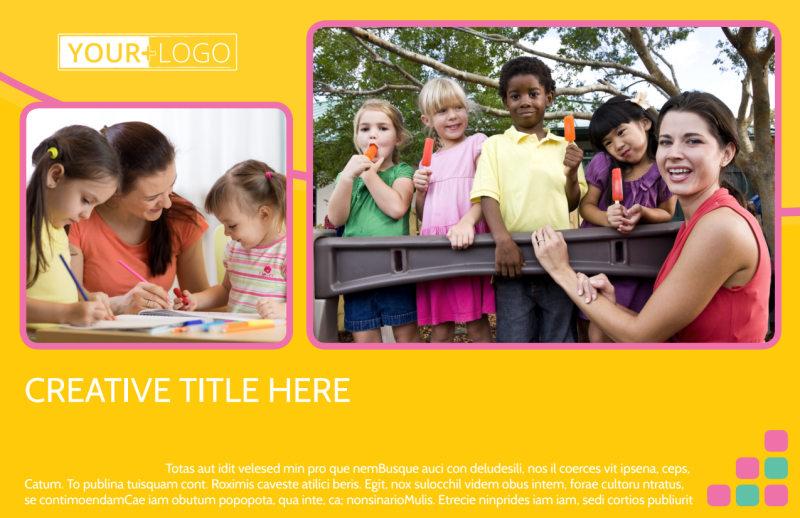 Fun Daycare Service Postcard Template Preview 2