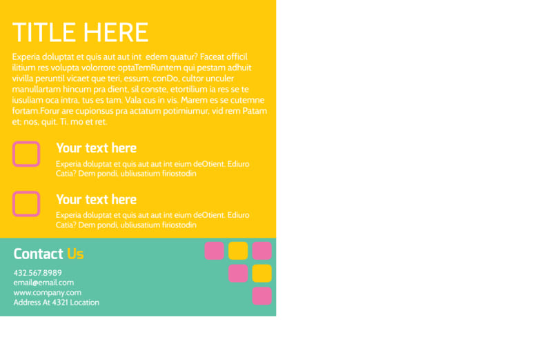 Fun Daycare Service Postcard Template Preview 3
