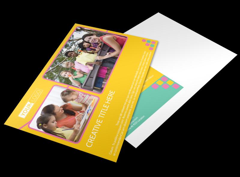 Fun Daycare Service Postcard Template Preview 1