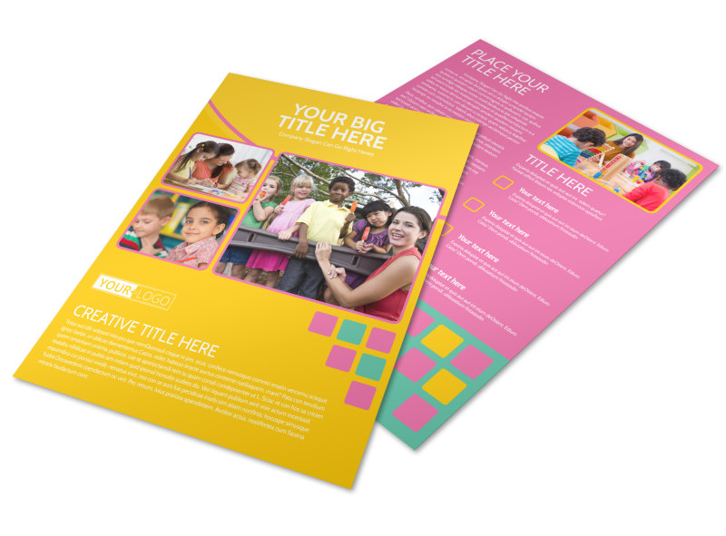 Fun Daycare Service Flyer Template