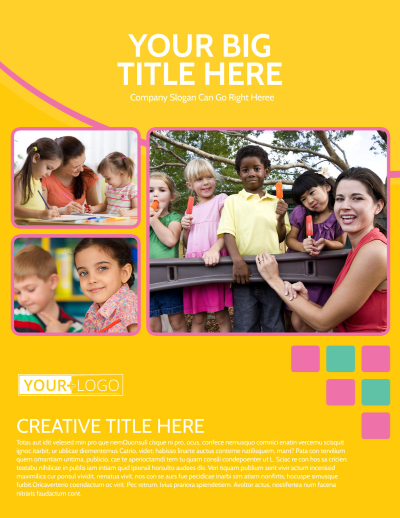 Fun Daycare Service Flyer Template Preview 2