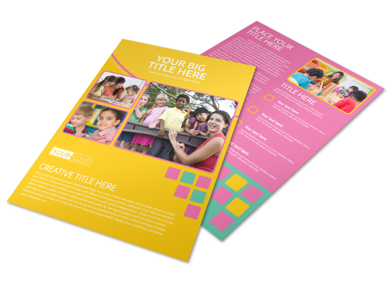 Fun Daycare Service Flyer Template Preview 1