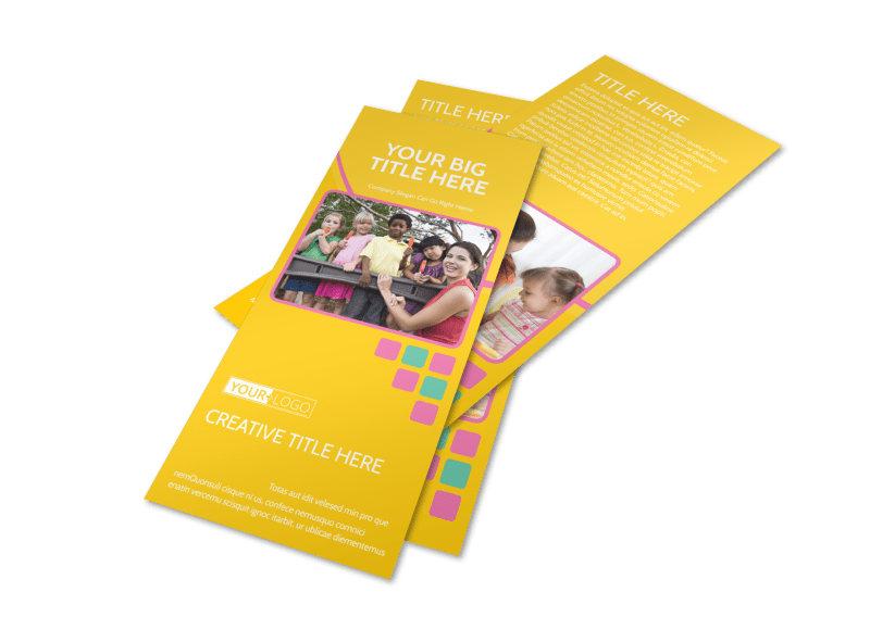 Fun Daycare Service Flyer Template 2