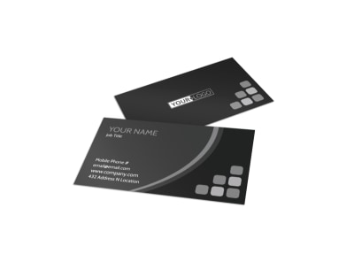 Generic Business Card Template 11353