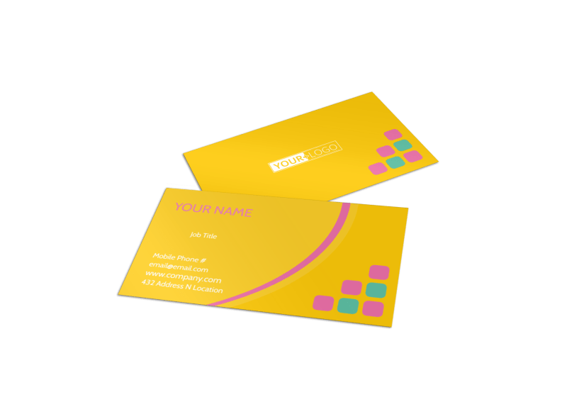 Fun Daycare Service Business Card Template Preview 1