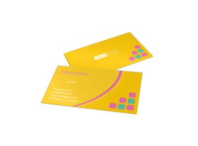 Fun Daycare Service Business Card Template preview
