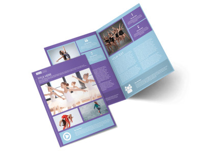 Top Dance School Bi-Fold Brochure Template 2