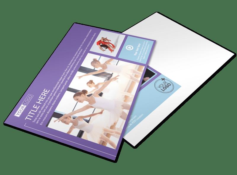 Top Dance School Postcard Template Preview 1