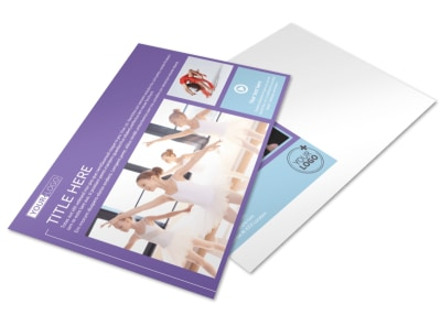 Top Dance School Postcard Template preview