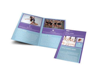 Top Dance School Bi-Fold Brochure Template preview