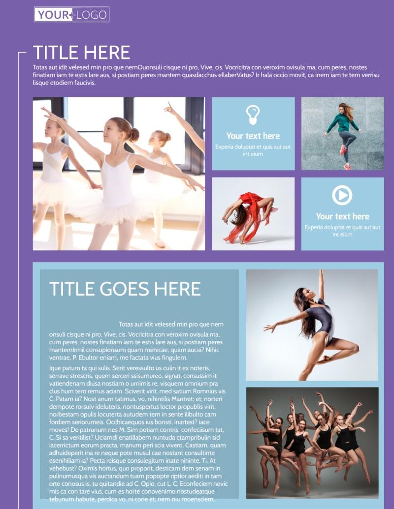 Top Dance School Flyer Template Preview 2