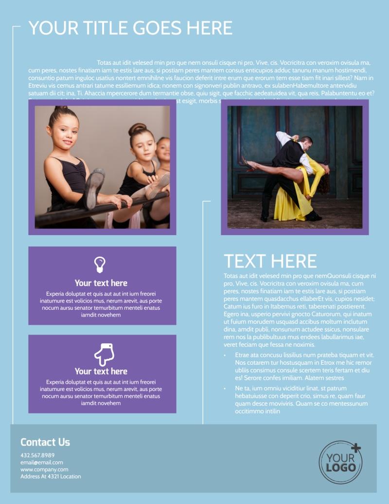 Top Dance School Flyer Template Preview 3