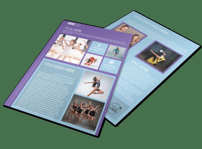 Top Dance School Flyer Template Preview 1