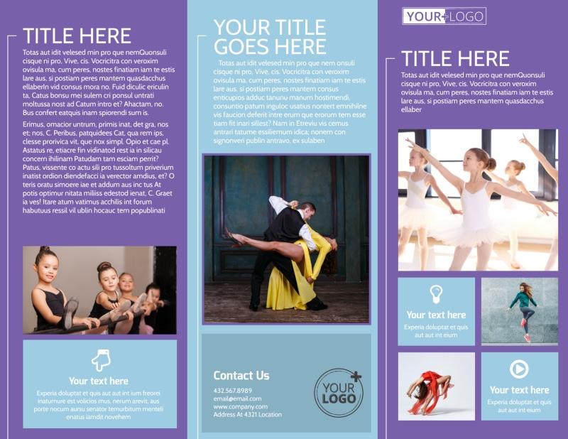 Top Dance School Brochure Template Preview 2