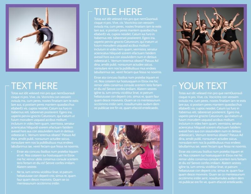 Top Dance School Brochure Template Preview 3