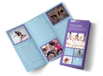 Top Dance School Tri-Fold Brochure Template preview