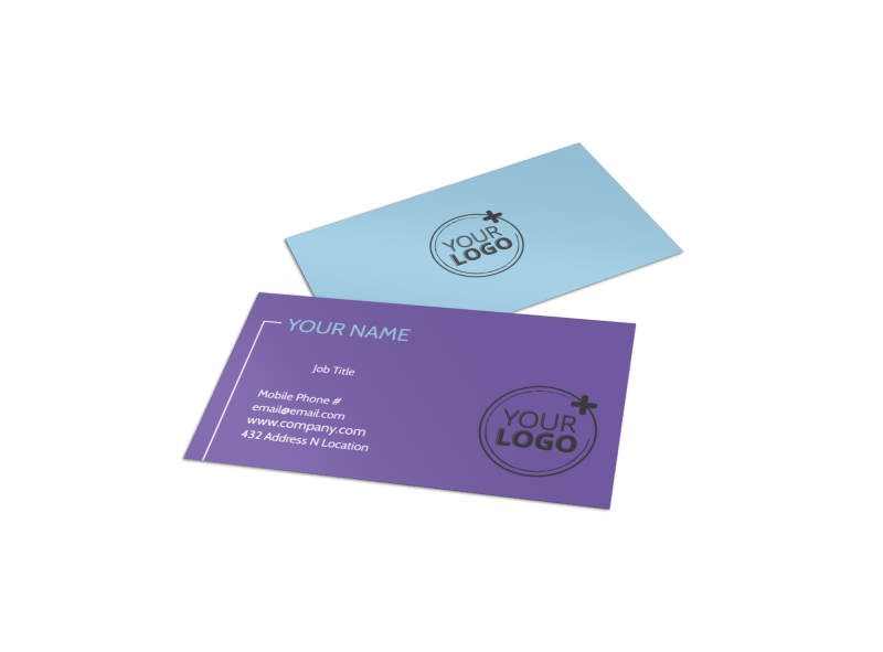 Top Dance School Business Card Template Preview 1