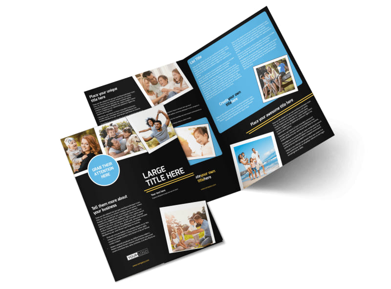 Family Photography Service Bi-Fold Brochure Template 2