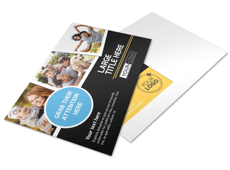 Family Photography Service Postcard Template 2